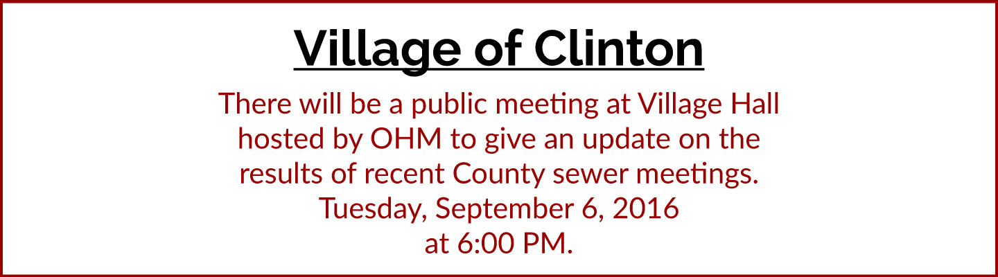 Village-of-Clinton-Sewer-Notice